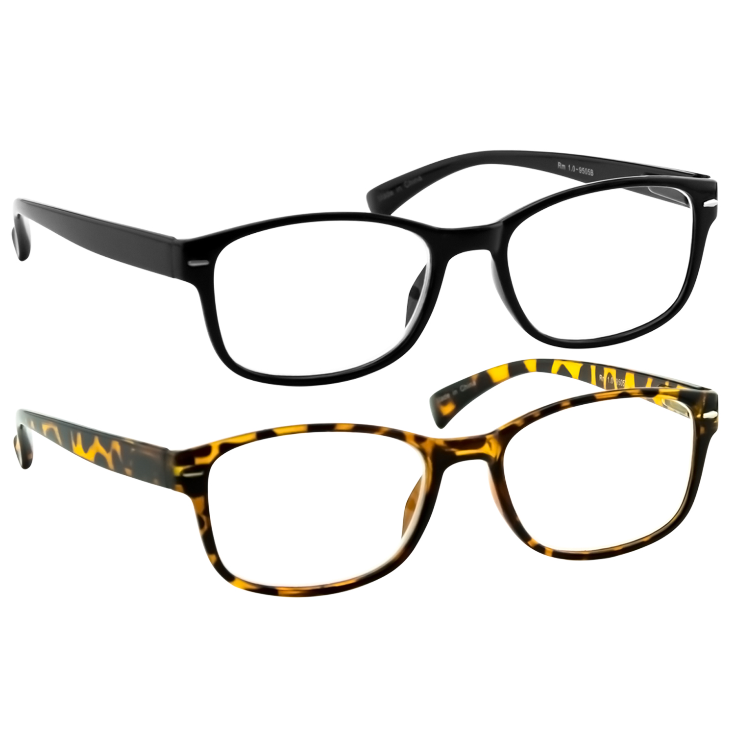 Reading Glasses 2 Pack | Always Have a Timeless Look, Crystal Clear Vision, Comfort Fit With Sure-Flex Spring Hinge Arms & Dura-Tight Screws