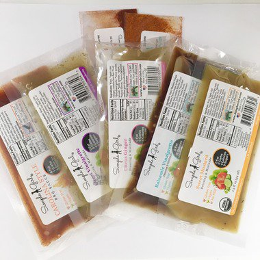 Simple Girl Organic & Sugar-Free Dressing and BBQ Sauce Sample Pack (FREE  US Shipping) - dressing, bbq sauce, diet safe, sugar free, low sugar,
