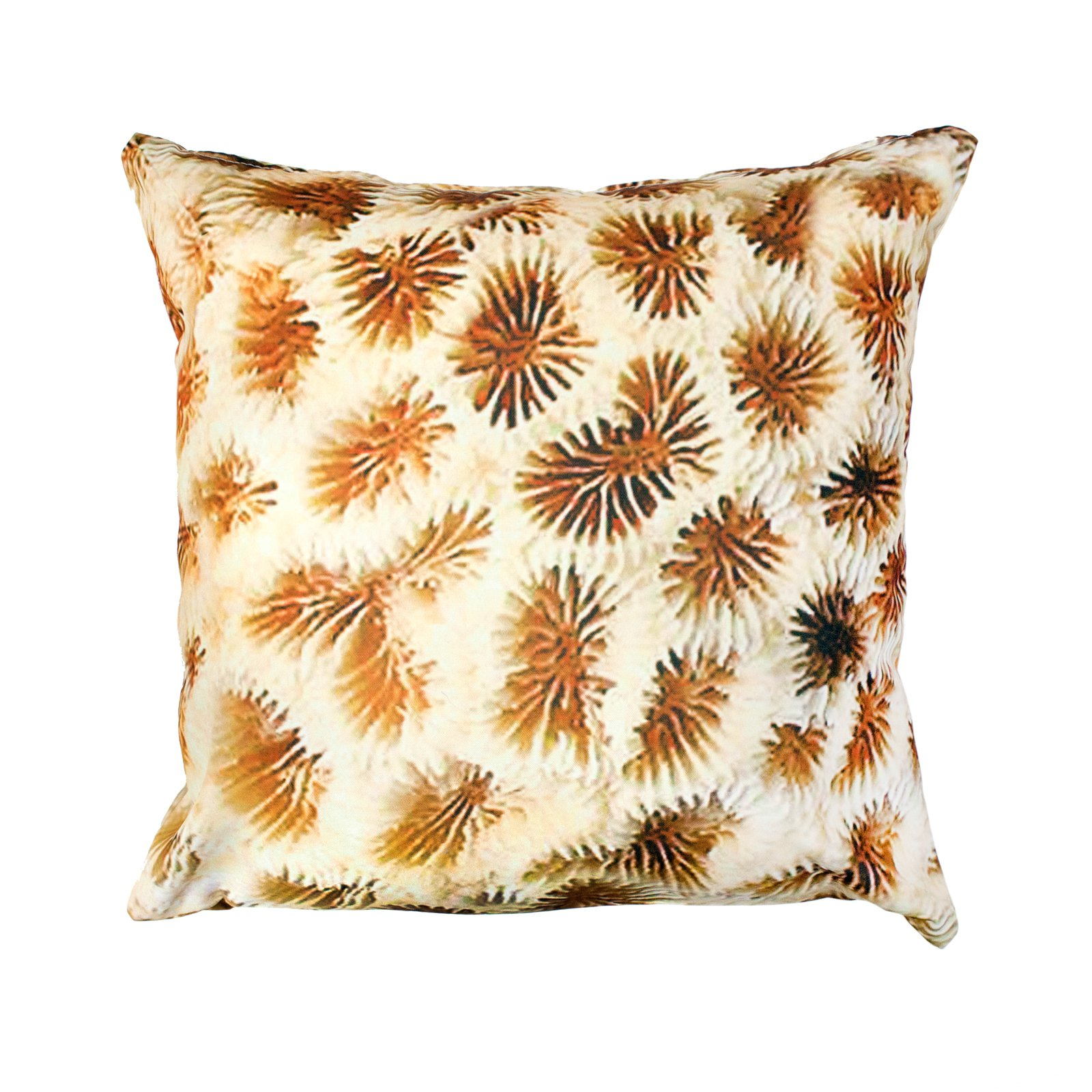 Divine Designs Coral Reef Outdoor Pillow - 20L x 20W in. - Natural / Ivory