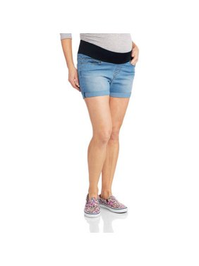 Oh! Mamma Maternity Underbelly Denim Shorts - Available in Plus Sizes