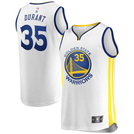 Kevin Durant Golden State Warriors Fanatics Branded Youth Fast Break Replica Jersey White - Association Edition