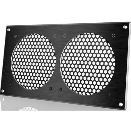 Apc Grill (ac infinity airplate a7 ai-fmf120a2 ventilation fan grill for cabinets - 2 fans - black)