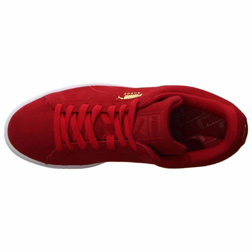 PUMA Men's Suede Classic Debossed q3 Fashion Sneaker, Barbados Cherry (9.5 D(M) US)