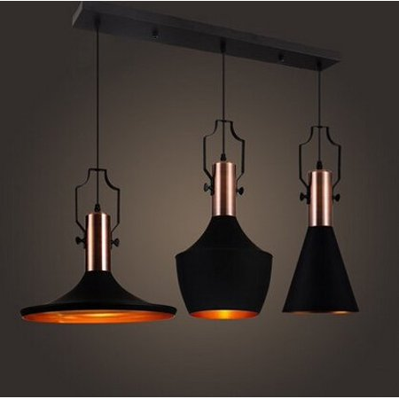 MSTAR Industrial Vintage Pendant Light E26 Retro Ceiling Pendant Light 3 Lights for Kitchen Café