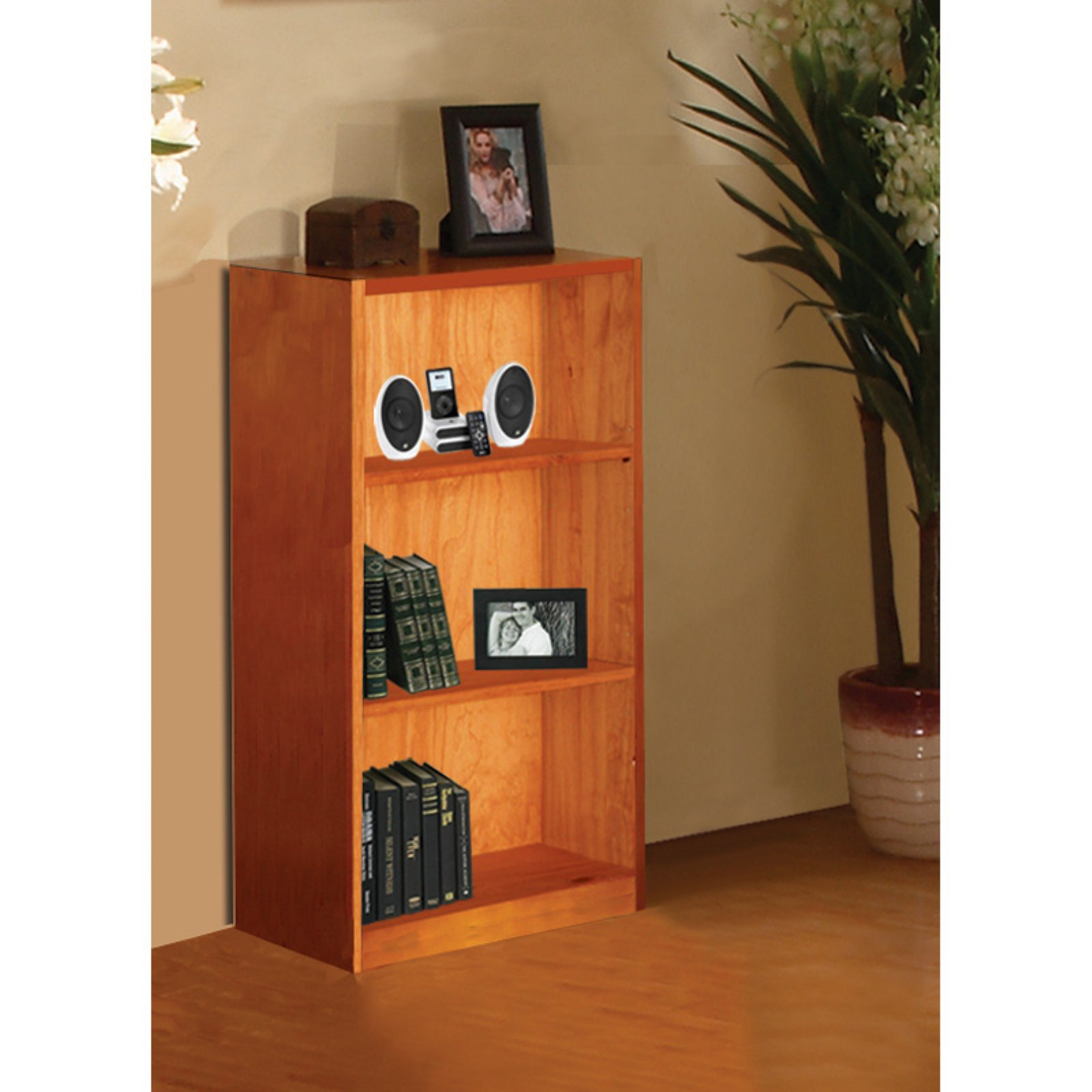"American Furniture Classics 42"" Bookshelf, Honey Finish"