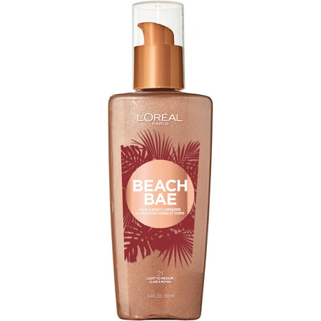 L'Oreal Paris Summer Belle Beach Bae Face & Body Liquid Luminizer, Light to (Best Makeup To Cover Melasma On Face)