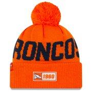 Denver Broncos New Era 2019 NFL Sideline Road Official Sport Knit Hat - Orange - OSFA