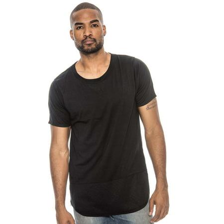 True Rock Men's Eagle Textured Panel & Side Zip T-Shirt - Eagle Zip