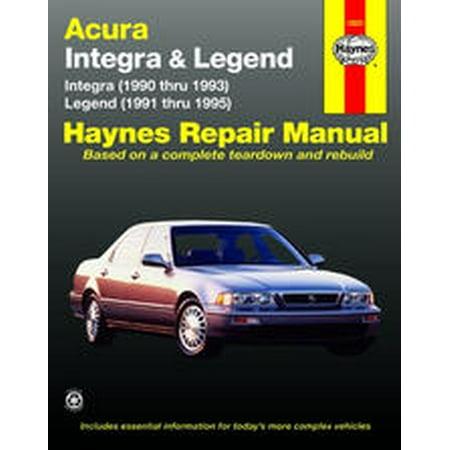 Haynes Manuals 12021 Repair Manual Acura Integra 1990 Thru 1993/ Legend 1991 Thru 1995; English; Paper Format - image 1 de 1