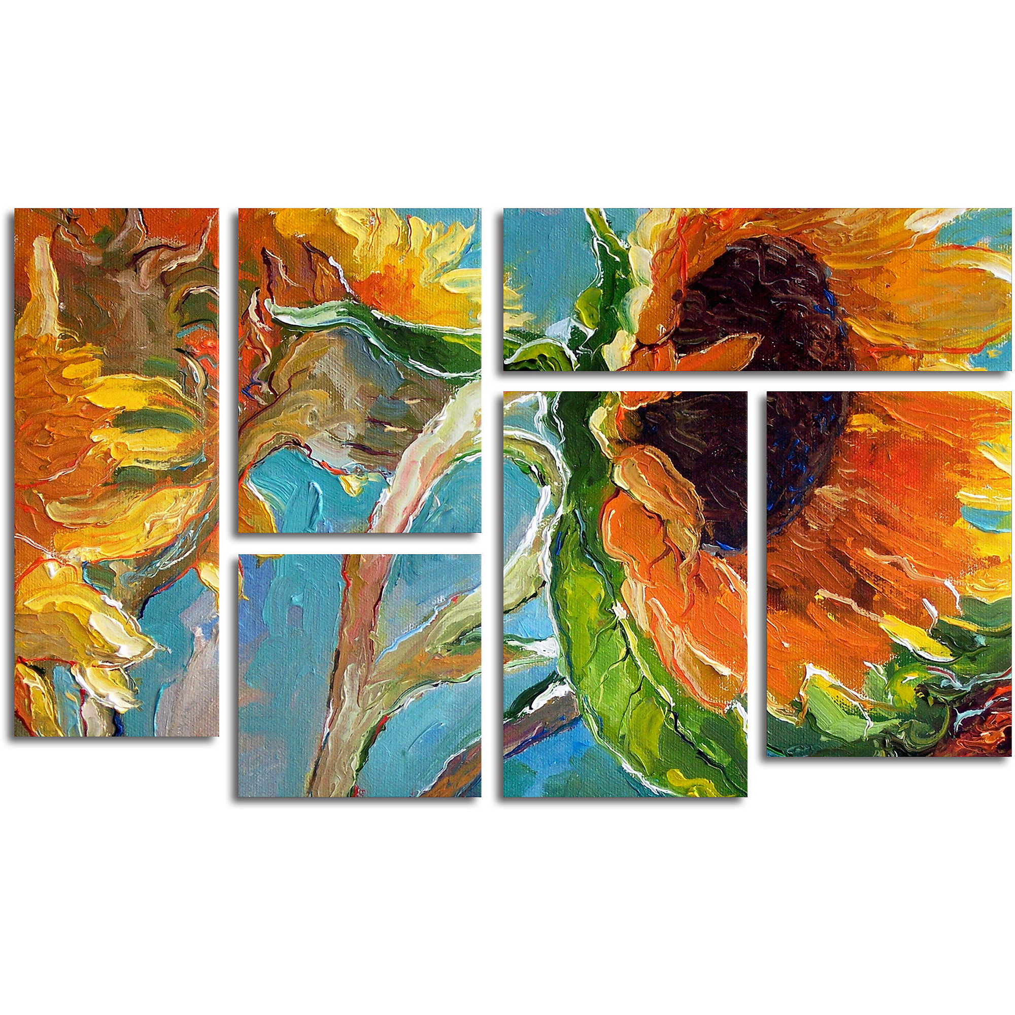 "Trademark Fine Art ""Sun 11"" Multi-Panel Art Set by Richard Wallich"