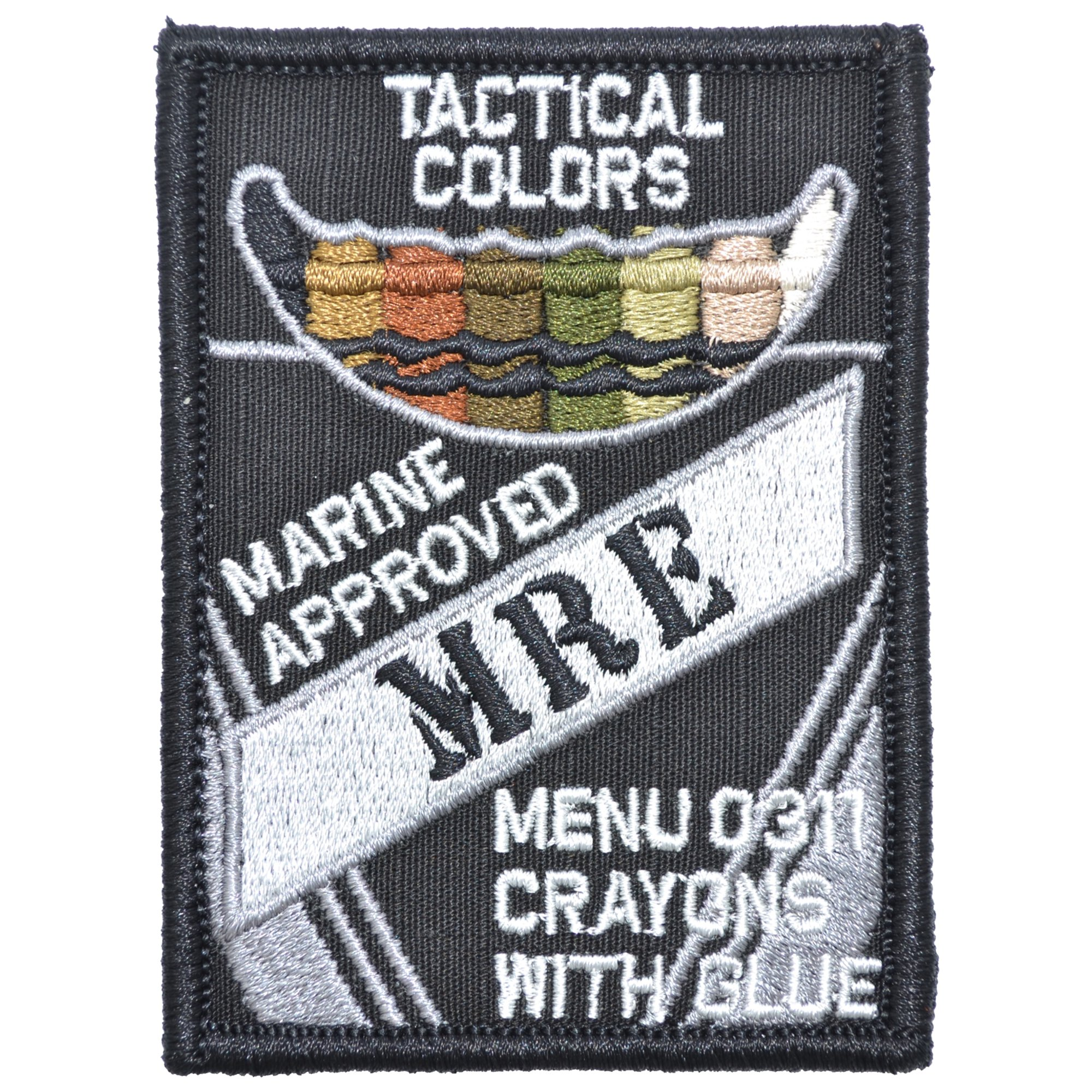 Tactical Color Crayons Marine Approved MRE - 2.5x3.5 Patch