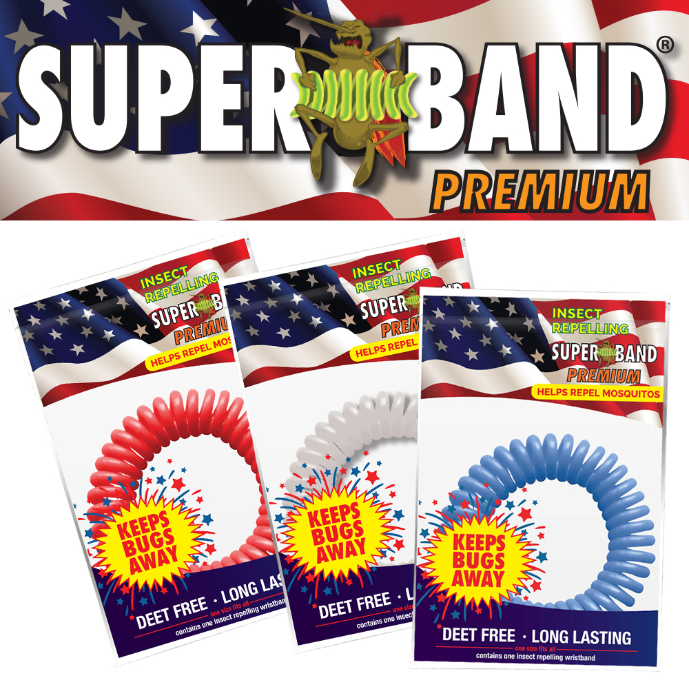 Patriotic Insect Repelling Superband PREMIUM (10-pack)