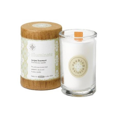 Root Scented Seeking Balance Illuminate Candle, Juniper Rosewood (Juniper Candle)