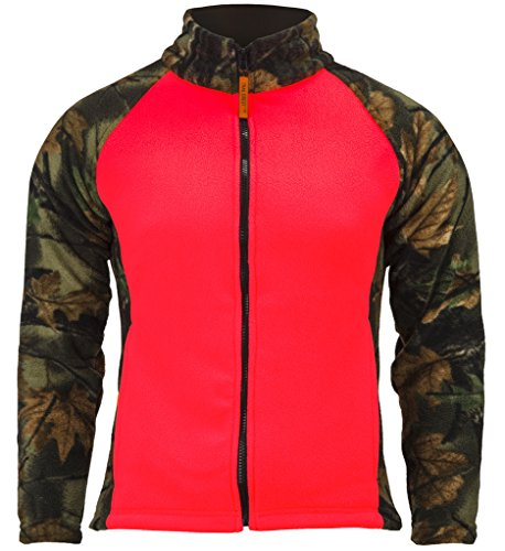 Trail Crest Women's Semi-Fitted Full Zip Camo Jacket, XS, Coral