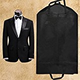 Foldable Dustproof Garment Bag Suit Dress Jacket Cover Storage Travel Y Black
