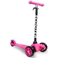 OxGord Kids Scooter Deluxe 3 Wheel Glider with Kick n Go Lean 2 Turn (Pink)