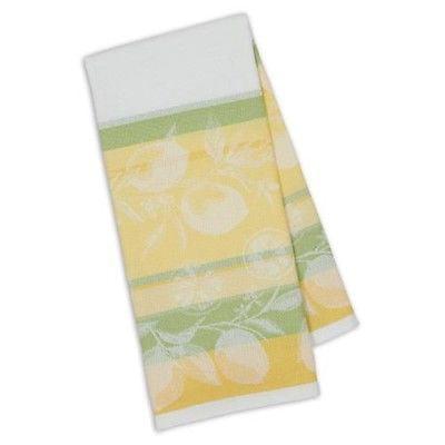 Design Imports Kitchen Towel - Riviera Lemons Stripe Jacquard