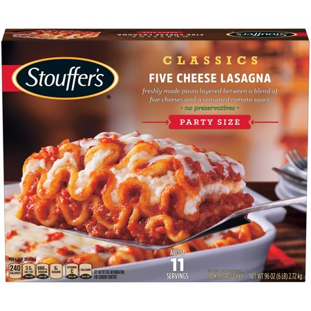 STOUFFER'S CLASSICS Party Size Five Cheese Lasagna 96 oz  Box