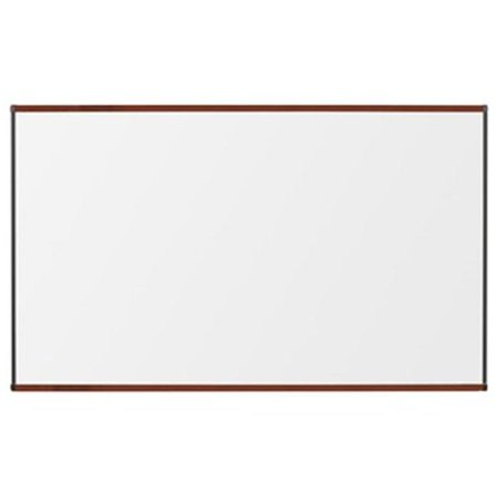 Best Rite  4 ft. H x 6 ft. W Porcelain Steel Markerboard with Origin Trim - Mahogany