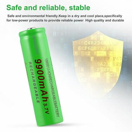 3.7V 18650 9900mAh Capacity Rechargeable Li-ion Battery Charger for Flashlight - image 2 de 8