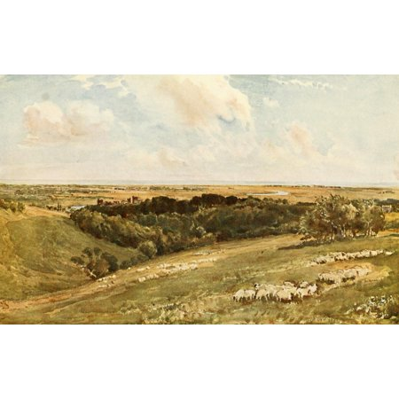 British Water Colour Painting 1908 Arundel Park Poster Print by  Thomas Collier