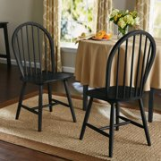 Mainstays Windsor Chairs Set of 2, Black
