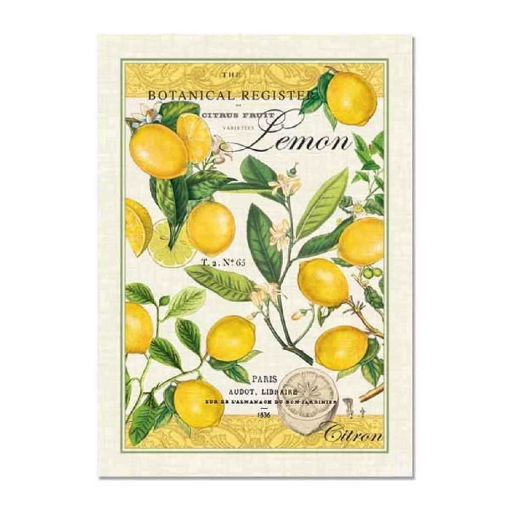Michel Design Works Lemon Basil Kitchen Towel, Natural Woven Cotton by