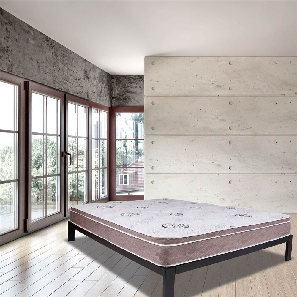 Luxury Ultra Twin Size Eurotop mattress,  Wrapped Coil with fortified edge support, Bed in a Box (Twin)
