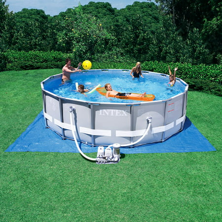 Intex 16 39 x 48 ultra frame above ground swimming pool with salt system for Can babies swim in saltwater pools