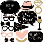 Best Day Ever - Bridal Shower Photo Booth Props Kit - 20 Count