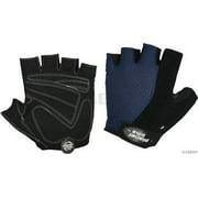 Planet Bike Aries Fingerless Cycling Glove: Black/Blue, LG