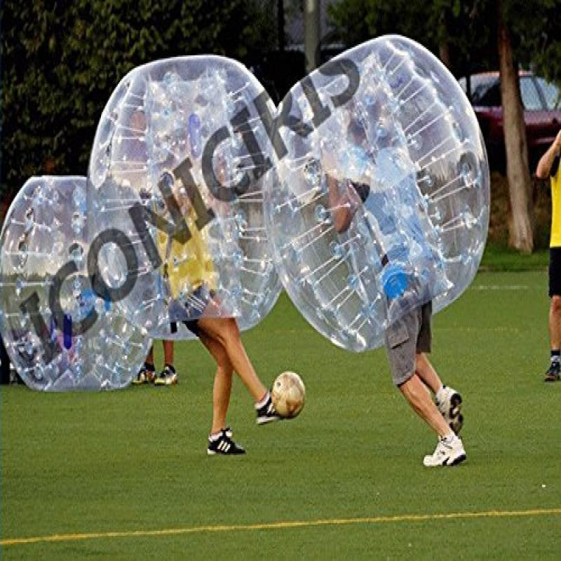 Free Shipping Inflatable Bumper Bubble Balls Body Zorb Ball Soccer Bumper Football 1.5m Transparency with... by