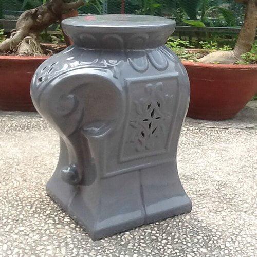 Bungalow Rose Burleson Elephant Ceramic Garden Stool