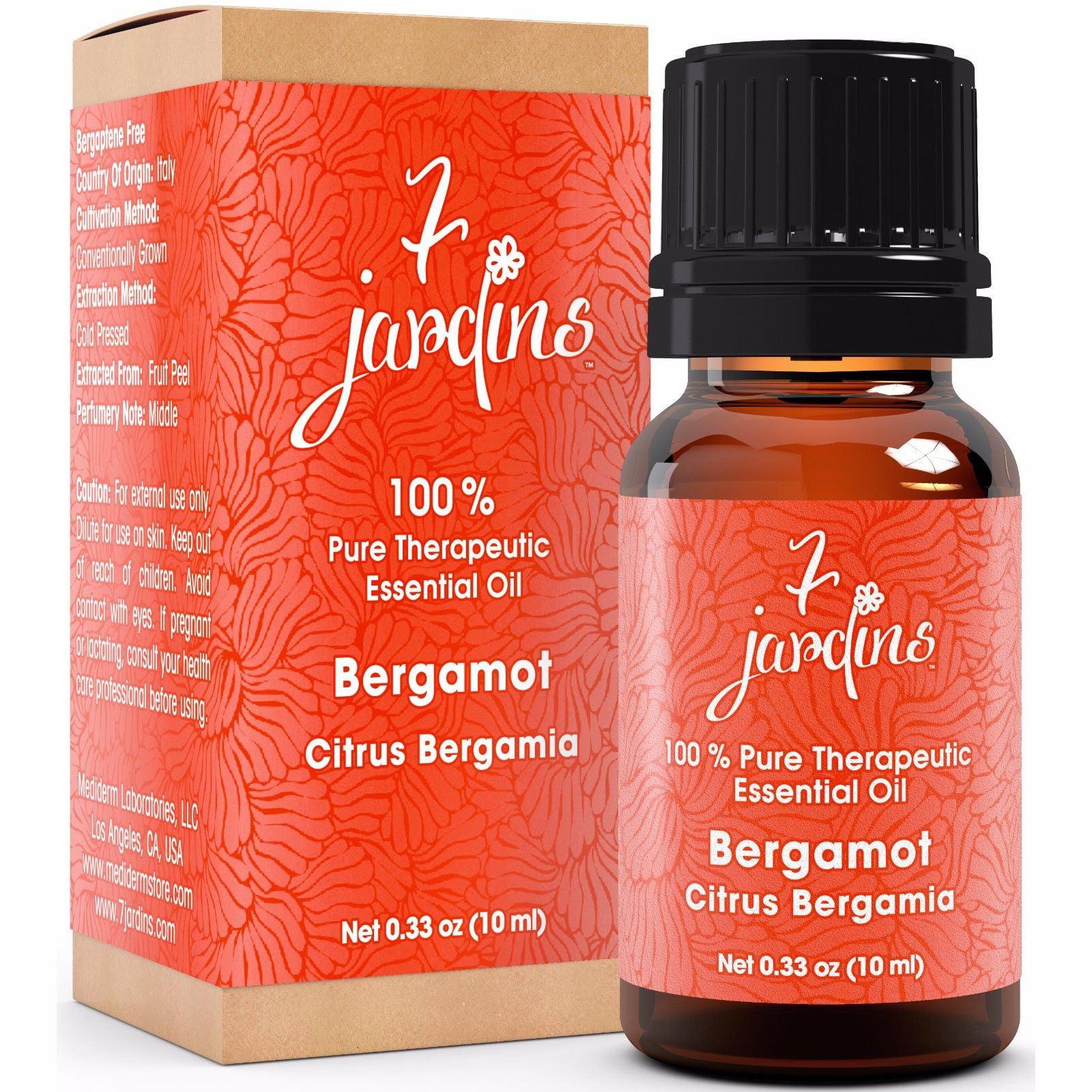 7 Jardins Therapeutic Essential Oil 100% Pure Bergamot Citrus Bergamia -10ml