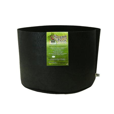 Smart Pots 15 Gallon Smart Pot Soft Sided Container  Black