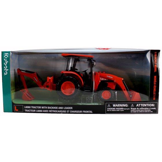 B/O 1:18 Kubota Farm Tractor W/Loader And Backhoe(L&S)