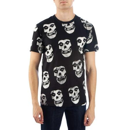 Music Men's black misfits all-over-print short sleeve (Black Short Sleeve Tee)