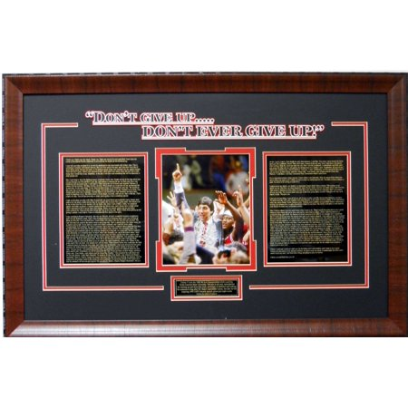 Jimmy Valvano Espy Award Speech Don't Ever Give Up Deluxe Framed Photo