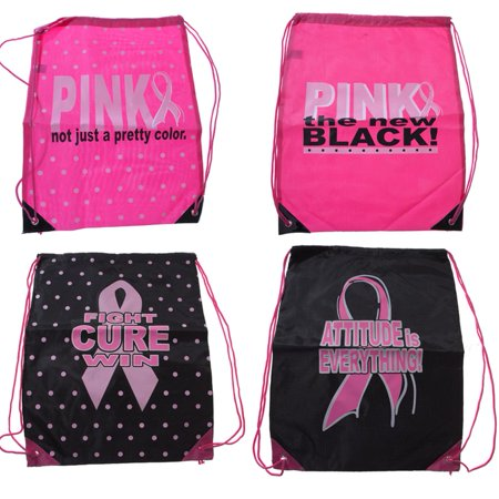 Breast Cancer Awareness Drawstring Backpack (Breast Cancer Sunglasses)
