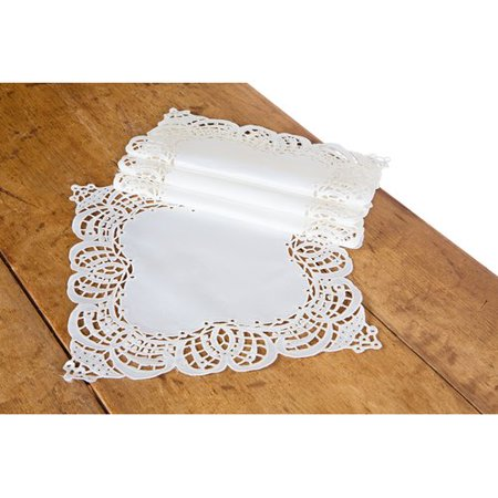 Xia Home Fashions Dainty Lace Square Doily (Set of 4)