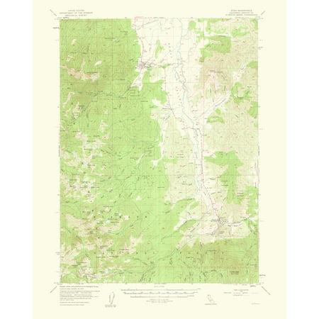 Topographical Map Print - Etna California Quad - USGS 1963 - 23 x ...