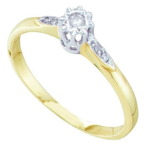 0.06Ctw Diamond Bridal Womens Fixed Ring Size - 7