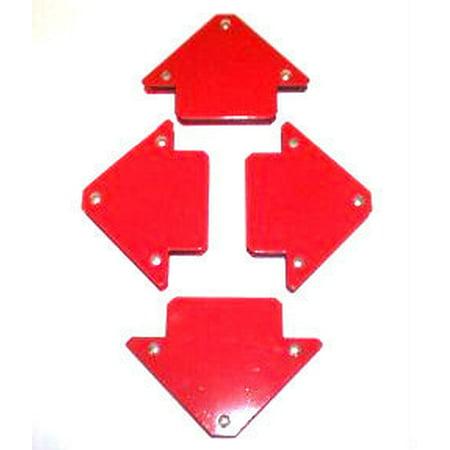Arrow Welding Magnet - 4 Pack of 25 LB Magnetic Welding Welder's Magnet Arrow Angle Clamps 45 Degree