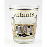 Atlanta Georgia Black and Gold Skyline Shot Glass (Golf Shot Glasses)