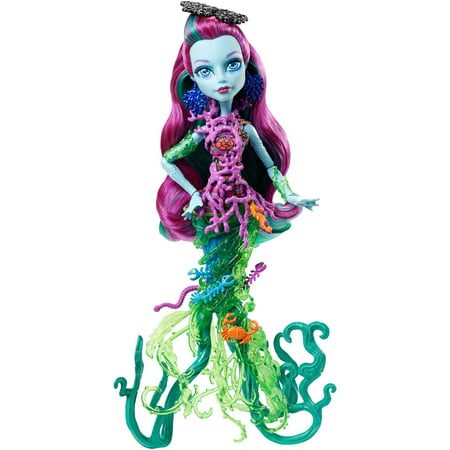 Monster High Great Scarrier Reef Posea Reef Doll - Monster High Honey Swamp