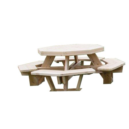 Kunkle Holdings LLC White Cedar Octagon Picnic Table -Medium Size