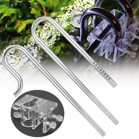 Dual Stainless Pipes - Moaere Pipe Surface Skimmer Steel Stainless Inflow Outflow for Aquarium Planted Tank