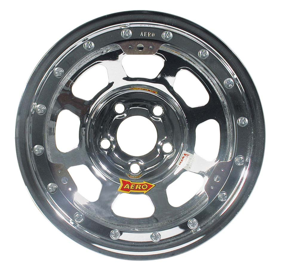 """Aero Race Wheels 53-Series 15x10"""" 5x4.75 Chrome Wheel P/N..."""