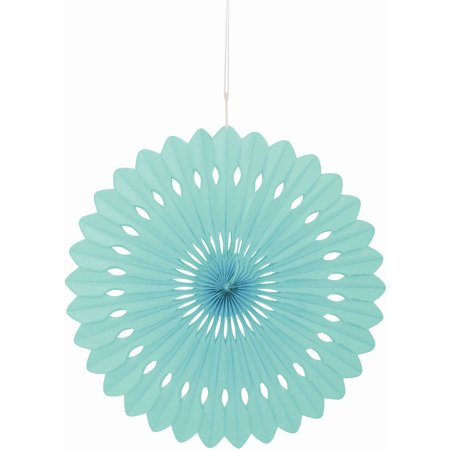 Tissue Paper Fan Decoration, 16 in, Mint Green, - Mint Green Wedding Decorations