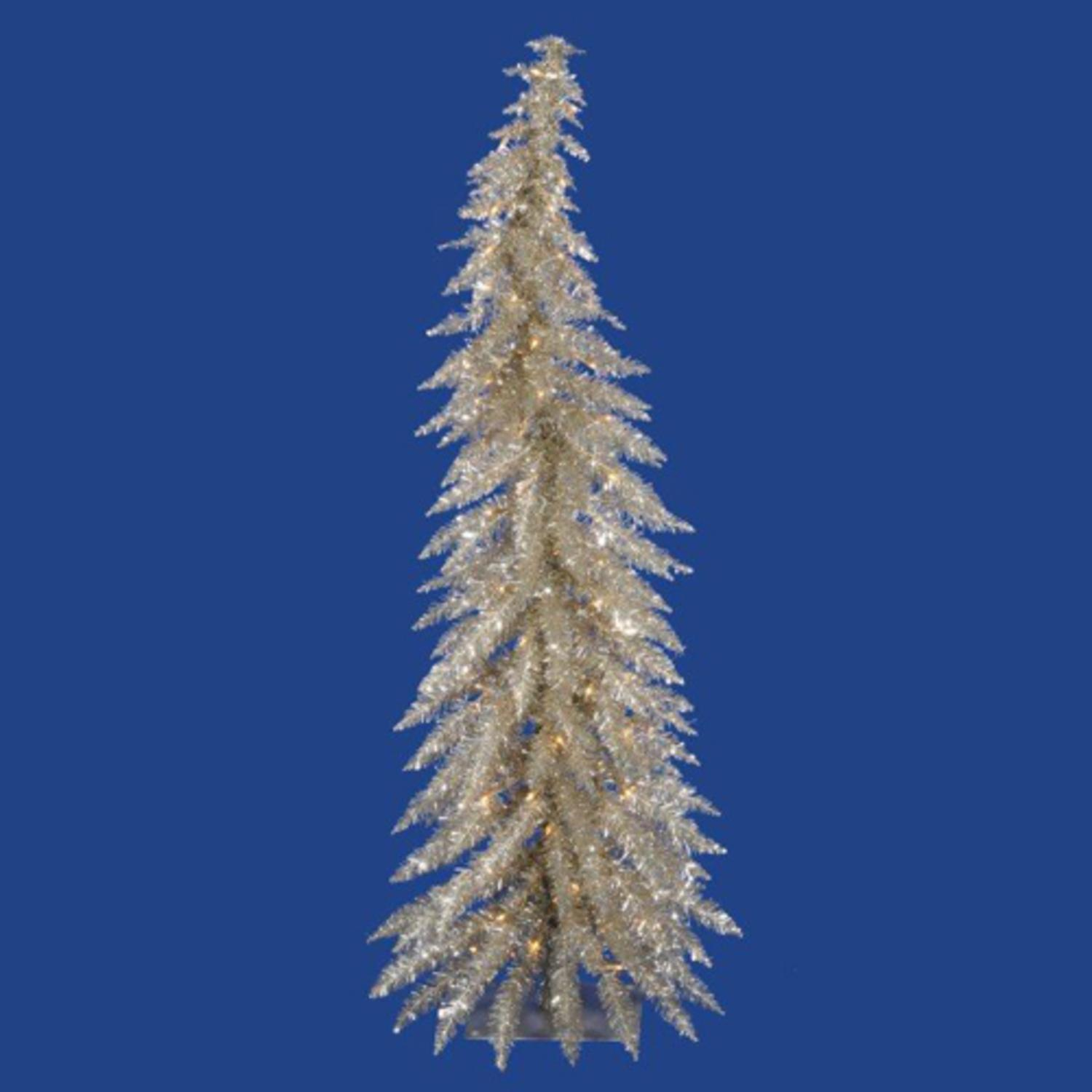 Vickerman Pre Lit 3' Champagne Fir Artificial Christmas Tree  - Vickerman Pre Lit Christmas Trees
